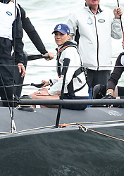 The Duchess of Cambridge takes part in The King's Cup Regatta, Cowes, Isle of Wight. Photo credit should read: Doug Peters/EMPICS