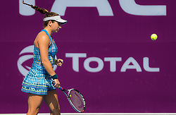 February 9, 2019 - Doha, QATAR - Julia Elbaba of the United States in action during qualifications for the 2019 Qatar Total Open WTA Premier tennis tournament (Credit Image: © AFP7 via ZUMA Wire)