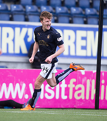 Falkirk's Paul Watson celebrates after scoring their first goal. <br /> Falkirk 2 v 0 Alloa Athletic, Scottish Championship game played 5/3/2016 at The Falkirk Stadium.