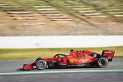 February 18, 2019 - Barcelona, Spain - 05 VETTEL Sebastian (ger), Scuderia Ferrari SF90, action during Formula 1 winter tests from February 18 to 21, 2019 at Barcelona, Spain - Photo Antonin VincentMotorsports: FIA Formula One World Championship 2019, Test in Barcelona, (Credit Image: © Hoch Zwei via ZUMA Wire)