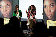 """(L to R) Dallas television personality Shon Gables and Mara Brock Akil, creator and executive producer of  BET's """"Being Mary Jane"""", lead a Q&A after a screening at the W Hotel in Dallas, Texas on June 22, 2013."""