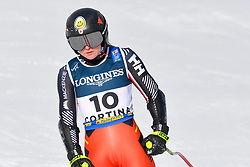 15.02.2021, Cortina, ITA, FIS Weltmeisterschaften Ski Alpin, Alpine Kombination, Damen, Super G, im Bild Valerie Grenier (CAN) // Valerie Grenier of Canada reacts after the Super G competition for the women's alpine combined of FIS Alpine Ski World Championships 2021 in Cortina, Italy on 2021/02/15. EXPA Pictures © 2021, PhotoCredit: EXPA/ Erich Spiess