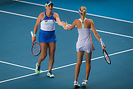 Timea Babos of Hungary and Kristina Mladenovic of France playing doubles at the 2020 Australian Open, WTA Grand Slam tennis tournament on January 29, 2020 at Melbourne Park in Melbourne, Australia - Photo Rob Prange / Spain ProSportsImages / DPPI / ProSportsImages / DPPI
