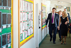© London News Pictures. 17/07/2013. London, UK.  Deputy Prime Minister NICK CLEGG and Minister of State for Schools, DAVID LAWS during a visit to St Joseph's Primary School, in Holborn, London. The Government today (17/07/2013) announced plans to rank students at the age of 11.  Photo credit : Ben Cawthra/LNP