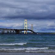 """Mighty Mack Bridge""<br /> <br /> The beautiful Mackinac Bridge crossing over the straits of Mackinac.<br /> <br /> Mackinac Bridge by Rachel Cohen"