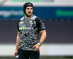Dan Evans of Ospreys<br /> <br /> Photographer Simon King/Replay Images<br /> <br /> European Rugby Challenge Cup Round 5 - Ospreys v Worcester Warriors - Saturday 12th January 2019 - Liberty Stadium - Swansea<br /> <br /> World Copyright © Replay Images . All rights reserved. info@replayimages.co.uk - http://replayimages.co.uk