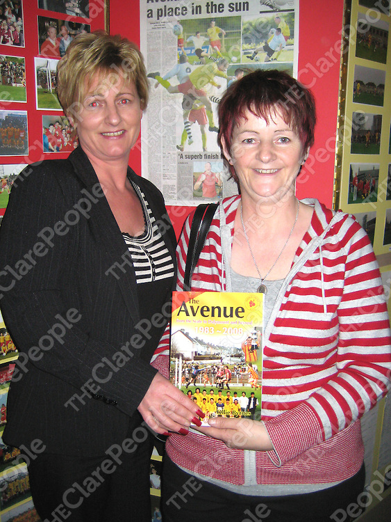 """At the launch of """"The Avenue - From the Scale to Dalymount and Beyond"""" to mark the silver anniversary of Avenue United were Bridget Dormer and Rita Griffin."""