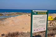 The rocky beach of Achziv nature reserve, Israel near Rosh Hanikra