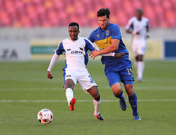 Thembinkosi Lorch of Chippa United (L) and Roland Putsche of Cape Town City during the 2016 Premier Soccer League match between Chippa United and Cape Town City held at the Nelson Mandela Bay Stadium in Port Elizabeth, South Africa on the 19th November  2016.<br /> <br /> Photo by:   Richard Huggard / Real Time Images