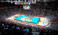 07.09.2014, Krakow Arena, Krakau, POL, FIVB WM, Italien vs USA, Gruppe D, im Bild wypelniona widzami hala Krakow Arena, komplet widzow w Krakowie // during the FIVB Volleyball Men's World Championships Pool D Match beween Italy and USA at the Krakow Arena in Krakau, Poland on 2014/09/07.<br /> <br /> ***NETHERLANDS ONLY***