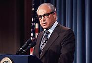 Robert Strauss,advisor to President Carter, US Trade Representative, in May 1978<br /> Photo by Dennis Brack