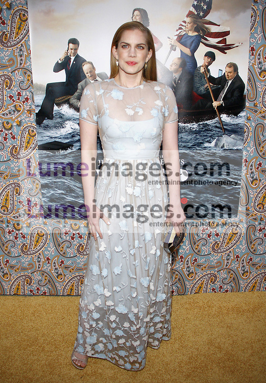"""Anna Chlumsky at the HBO's Season 3 premiere of """"Veep"""" held at the Paramount Studios in Hollywood, USA on March 24, 2014."""