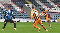 Hull City's Mallik Wilks cores his team's 2nd goal<br /> <br /> Photographer Dave Howarth/CameraSport<br /> <br /> The EFL Sky Bet League One - Rochdale v Hull City - Saturday 17th October 2020 - Spotland Stadium - Rochdale<br /> <br /> World Copyright © 2020 CameraSport. All rights reserved. 43 Linden Ave. Countesthorpe. Leicester. England. LE8 5PG - Tel: +44 (0) 116 277 4147 - admin@camerasport.com - www.camerasport.com