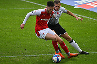 Football - 2020 / 2021 Sky Bet Championship - Swansea City vs Rotherham United - Liberty Stadium<br /> <br /> George Hirst Rotherham United & Ryan Bennett Swansea City in a match played without fans<br /> <br /> COLORSPORT/WINSTON BYNORTH