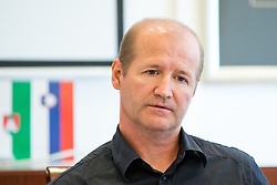 Nik Zupancic at press conference of HZS and Nik Zupancic as a new head coach of Slovenian national hockey team, on June 15th, in Hala Tivoli , Ljubljana, Slovenia. Photo by Matic Klansek Velej / Sportida