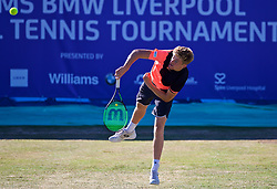 LIVERPOOL, ENGLAND - Friday, June 22, 2018: Adam Jones (GBR) during day two of the Williams BMW Liverpool International Tennis Tournament 2018 at Aigburth Cricket Club. (Pic by Paul Greenwood/Propaganda)