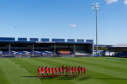Toulouse during the 'You are the Stars' minutes applause prior to kick off - Mandatory by-line: Ryan Hiscott/JMP - 26/09/2020 - RUGBY - Sandy Park - Exeter, England - Exeter Chiefs v Toulouse - Heineken Champions Cup Semi Final