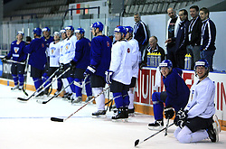 Finland hockey players at practice of Finland national team at Hockey IIHF WC 2008 in Halifax,  on May 04, 2008 in Forum Centre, Halifax, Nova Scotia, Canada.  (Photo by Vid Ponikvar / Sportal Images)