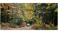 Autumn along the road to the Crisp Point Lighthouse along Lake Superior, Upper Peninsula, Michigan, USA - A one hour drive from Tahquamenon Falls, mostly dirt roads