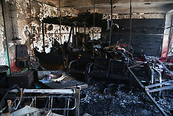 KABUL, July 24, 2017 - Kabul, Afghanistan - A damaged room at the the site of a suicide attack in Kabul, Afghanistan. Twenty-four civilians were killed and 42 others wounded after a car bomb struck a minibus carrying government employees in western Kabul in Afghanistan on Monday, sources and witnesses said. (Credit Image: © Rahmat Alizadah/Xinhua via ZUMA Wire)