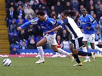 Photo: Dave Linney.<br />Birmingham City v Tottenham Hotspur. The Barclays Premiership. 18/03/2006.Bham's Jermaine Pennant(L) beats  Edgar Davids to the ball