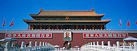 Chine, Pékin (Beijing), Cité interdite, classée Patrimoine Mondial de l' UNESCO, porte d'entree Tian anmen // China, Beijing, the Tian'anmen, main entrance to the Imperial Palace at The Forbidden City