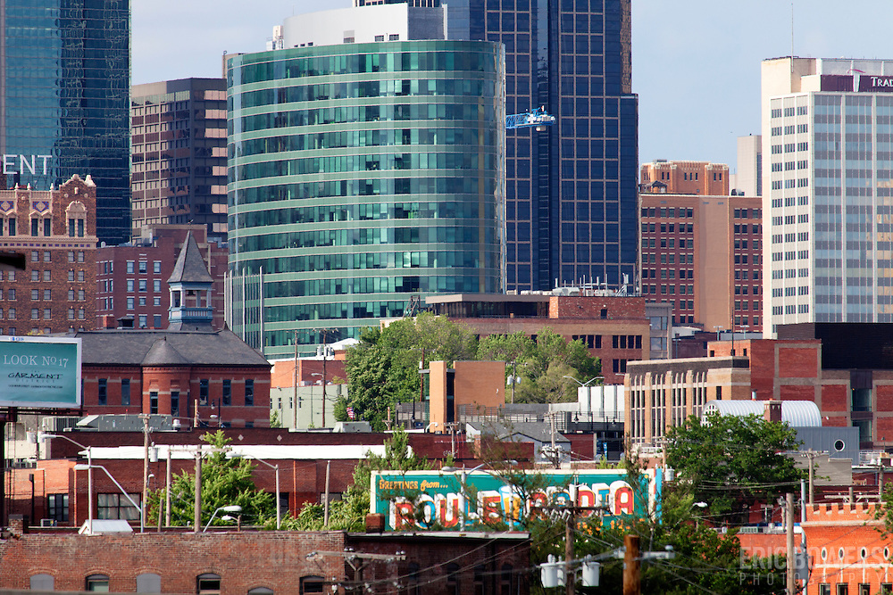Downtown Kansas City in daytime with H&R Block headquarters