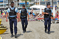 France: French Police Patrol Mediterranean Beaches, 4 August 2016