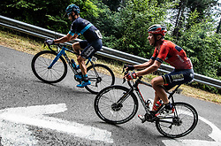 David Lozano (ESP) of Team Novo Nordisk and Domen Novak (SLO) of Bahrain - Merida during 4th Stage of 26th Tour of Slovenia 2019 cycling race between Nova Gorica and Ajdovscina (153,9 km), on June 22, 2019 in Slovenia. Photo by Vid Ponikvar / Sportida