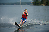 Morin and Digangi waterski session on Lake Winnipesaukee.