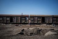 A migrant living in an old train wagon is seen in Belgrade makeshif camp. March 17th, 2017, Belgrade, Serbia. Federico Scoppa/CAPTA