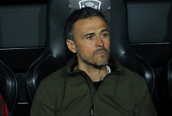 March 23, 2019 - Valencia, Valencia, Spain - Luis Enrique of Spain in action during European Qualifiers championship, , football match between Spain and Norway, March 23th, in Mestalla Stadium in Valencia, Spain. (Credit Image: © AFP7 via ZUMA Wire)