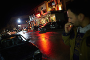 MACEDONIA, January 2016. City of Tetovo. Albanian youth hanging out in the evening.