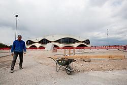 Exterior of Arena Stozice, on April 15, 2011, in  Ljubljana, Slovenia. (Photo by Vid Ponikvar / Sportida)