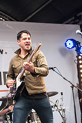 The Augustines perform at the Berwick Street Record Day concert in London.