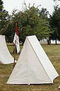 USA, Oregon, Brooks, Willamette Mission State Park, Union Cavalry camp