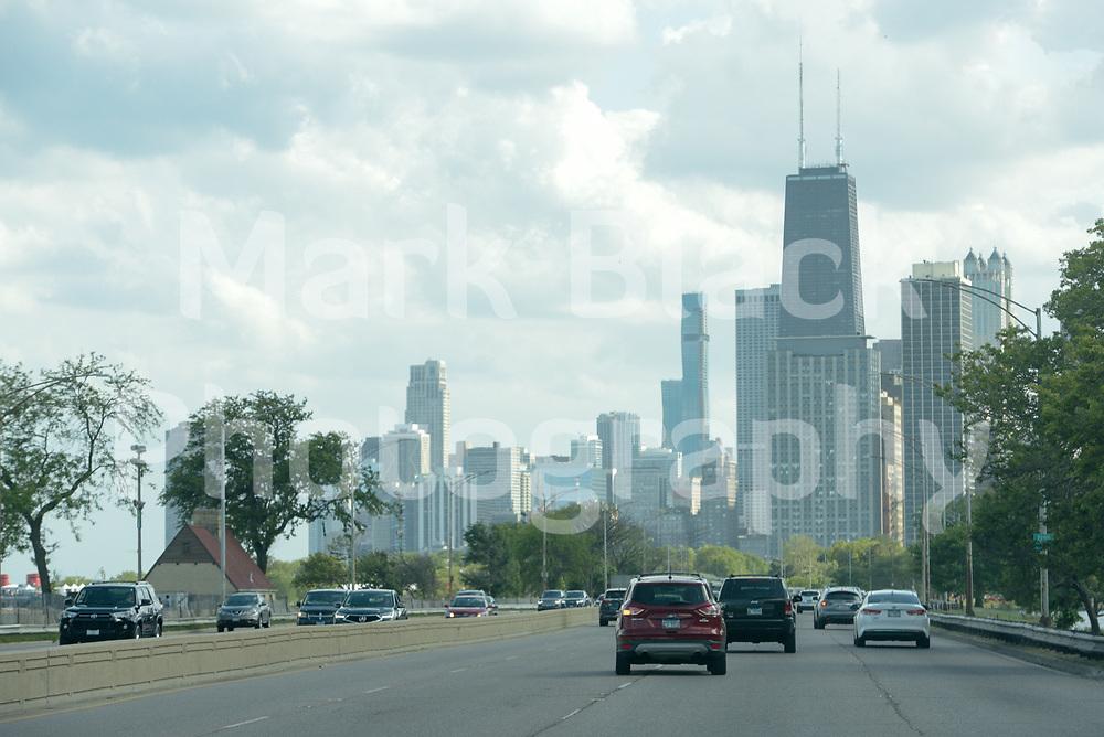 Lake Shore Drive (LSD) between Fullerton and Belmont in Chicago on Thursday, Sept. 3, 2020. Photo by Mark Black