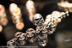 Custom jewelry display at Motor Bike Expo. Verona, Italy. Saturday January 21, 2017. Photography ©2017 Michael Lichter.