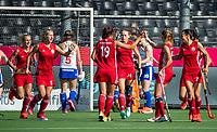 ANTWERP - BELFIUS EUROHOCKEY Championship.  women  England v Belarus (4-3) . Belarus celebrating a goal. WSP/ KOEN SUYK