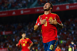 September 11, 2018 - Elche, Alicante, Spain - Saul of Spain celebrates after scoring during the UEFA Nations League football match between Spain and Croatia at Martinez Valero Stadium in Elche on September 11, 2018  (Credit Image: © Sergio Lopez/NurPhoto/ZUMA Press)