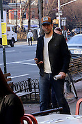 Exclusive<br /> Actor David Schwimmer stops to give some money to homeless man sitting on the street in Avenue of Americas, New York, David reaches in his pocket and gives him some money for a like David worth over over 60 Million dollars and featuring in the new hit TV series American Crime Story The People Vs O.J. Simpson.<br /> ©Exclusivepix Media