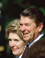 Nancy and Ronald Reagan in 1982<br />Photo by Dennis Brack. bb77