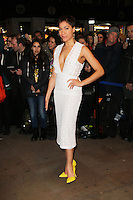 Cush Jumbo, WhatsOnStage Awards, Prince of Wales Theatre, London UK, 23 February 2014, Photo by Richard Goldschmidt