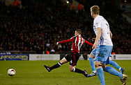 John Fleck of Sheffield Utd scores the second goal during the English League One match at Bramall Lane Stadium, Sheffield. Picture date: April 5th 2017. Pic credit should read: Simon Bellis/Sportimage