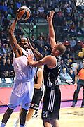 DESCRIZIONE : Paladesio Eurolega 2013-14 EA7 Emporio Armani Milano-Brose Baskets Bamberg<br /> GIOCATORE : Lawal Gani<br /> SQUADRA :  EA7 Emporio Armani Milano<br /> CATEGORIA : Tiro<br /> EVENTO : Eurolega 2013-2014<br /> GARA :  EA7 Emporio Armani Milano-Brose Baskets Bamberg<br /> DATA : 13/12/2013<br /> SPORT : Pallacanestro<br /> AUTORE : Agenzia Ciamillo-Castoria/I.Mancini<br /> Galleria : Eurolega 2013-2014<br /> Fotonotizia : Milano Eurolega Eurolegue 2013-14  EA7 Emporio Armani Milano Brose Baskets Bamberg<br /> Predefinita :
