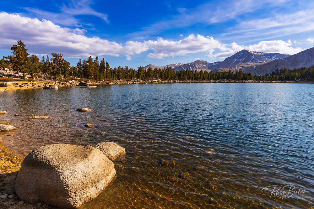 Muir Lake in the Cottonwood Lakes Basin, John Muir Wilderness, California USA