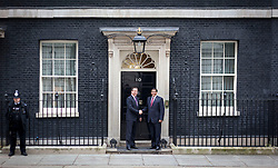 © Licensed to London News Pictures. 12/02/2013. London, UK. The British Prime Minister, David Cameron meets his Pakistani counterpart, Prime Minister Raja Pervaiz Ashraf on Downing Street in London today (12/02/2013). Photo credit: Matt Cetti-Roberts/LNP