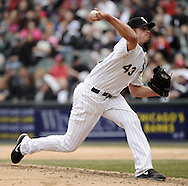 CHICAGO - APRIL 06:  Addison Reed #43 of the Chicago White Sox pitches against the Seattle Mariners on April 06, 2013 at U.S. Cellular Field in Chicago, Illinois.  The White Sox defeated the Mariners 4-3.  (Photo by Ron Vesely)   Subject:  Addison Reed