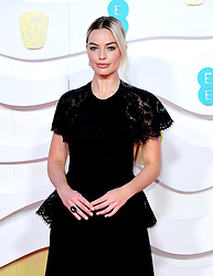 Margot Robbie attending the 73rd British Academy Film Awards held at the Royal Albert Hall, London.