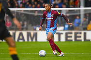 Cameron Borthwick-Jackson of Scunthorpe United (3) in action during the EFL Sky Bet League 1 match between Scunthorpe United and Bradford City at Glanford Park, Scunthorpe, England on 27 April 2019.